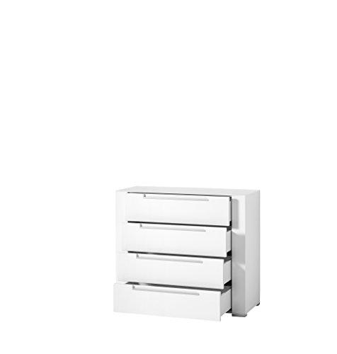 Paul DOWWA61024 Kommode, Holz, weiß, 41 x 100 x 87 cm - 2