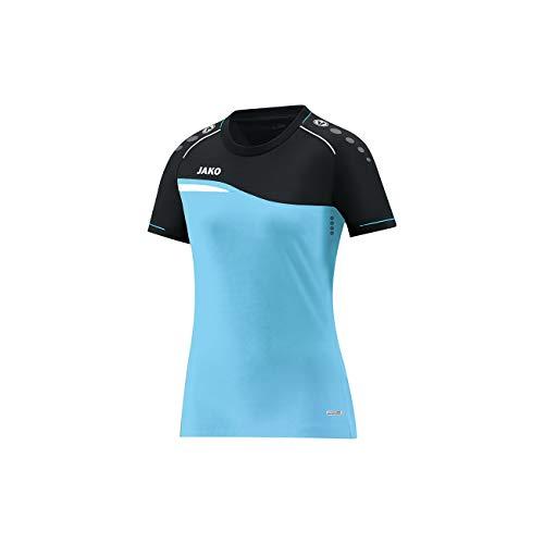 JAKO Herren T-Shirt Competition 2.0, Aqua/schwarz, 4XL -