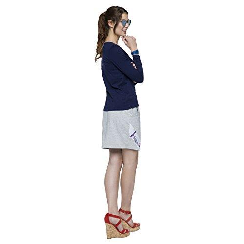 T208 - NEBULUS Rock MIRANDA, kurze Hose Damen grau