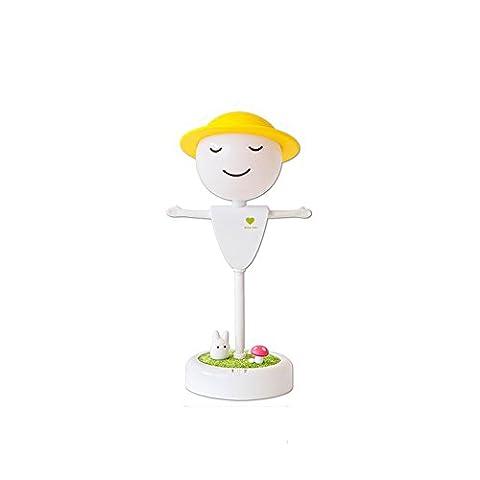 LZDHY Creative Nnight Light Petite lampe de table Cadeau de Noël Santa Claus USB Lampe de chevet rechargeable Lampes de bureau à économie d'énergie ( Color : Yellow light-Style B )