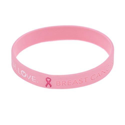 YNuth Silikon Armband Brustkrebs Bewusstsein Awareness Rosa Erwachsene Medizinisch