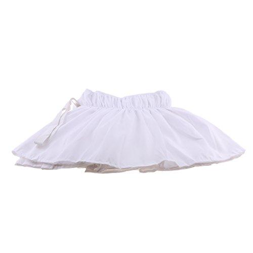 Homyl Jupe de Couvre de Lit de Polyester Lit Wrap Ruffle Tour de lit - Blanc, 150cmx200cm + 38cm