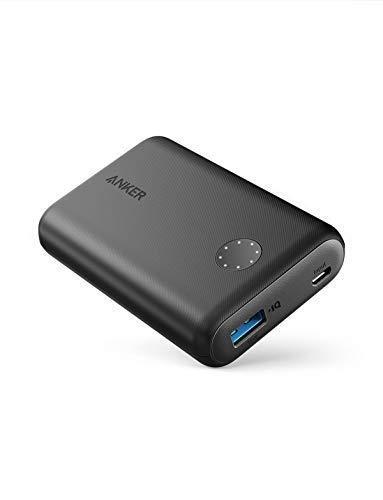 Anker Batería Externa PowerCore II 10000mAh con PowerIQ 2.0 Powerbank, Extra Compacto para iPhone X 8 8Plus 7 6s 6Plus, Samsung Galaxy y Otros Dispositivos (Negro)