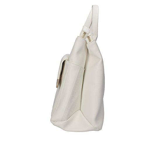 INTREND borsa a mano pelle bianco / blu Bianco