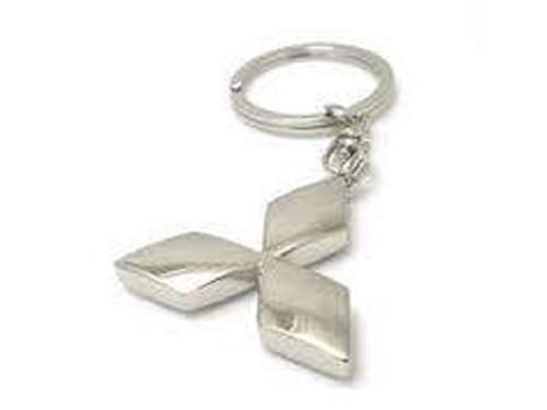 mitsubishi-chrome-metal-keychain-key-ring