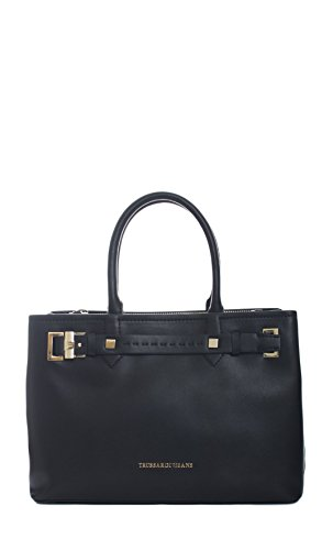 Trussardi Jeans | Borsa a mano Trussardi Jeans donna linea tramblant colore nero- 75B270, Nero schwarz,schwarz