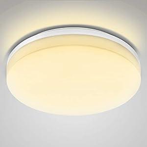 LE Wasserfest Deckenleuchte IP54 15W ersetzt 100W Glühbirne, LED Deckenlampe 3000K 1250lm 120 Abstrahlwinkel, Ideale Deckenbeleuchtung für Wohnzimmer, Küche, Balkon, Flur, Badezimmer usw. Warmweiß