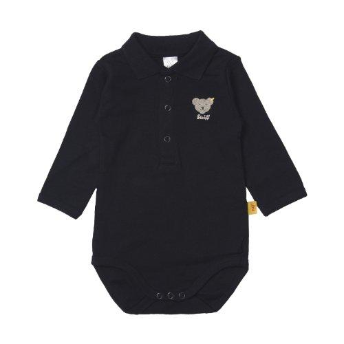 Steiff Unisex Baby Strampelanzug 0008713 Bodysuit 1/1 Sleeves, Blau (Steiff marine), Neugeboren (Drucken Marine-blau-jersey)