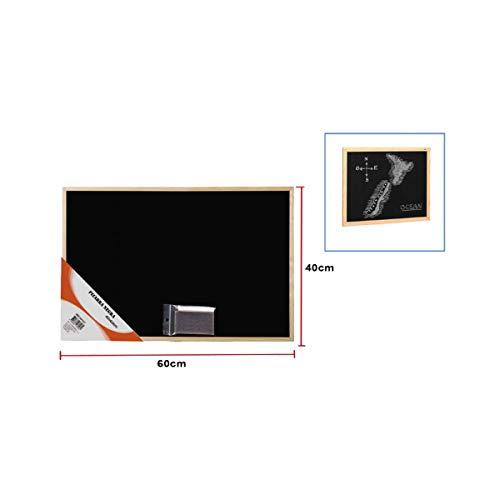 Cisne 2013, S.L. Pizarra Negra con Marco de Madera de Pino 60x40cm, Incluye Tiza y Borrador. Pizarra Grande Color Negro.