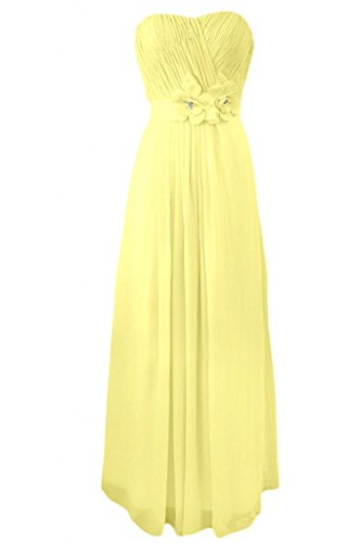 Sunvary Charming Sweetheart Chiffon abito damigella d'onore, A-Line per abiti da sera Daffodil