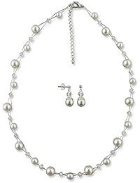 Brautschmuck set perlen creme  Suchergebnis auf Amazon.de für: brautschmuck perlen creme set: Schmuck