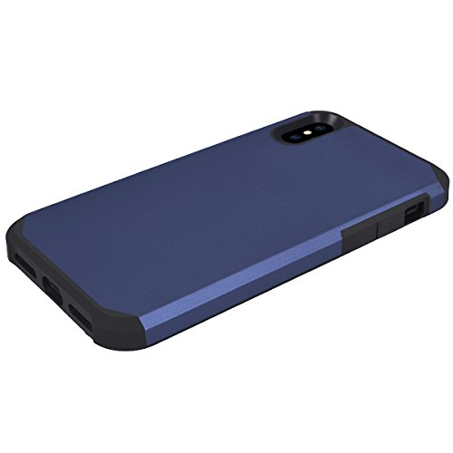 WE LOVE CASE iPhone X Hülle Silber iPhone X / 10 Hülle Silikon Weich Handyhülle Tasche für Mädchen Elegant Backcover , Soft TPU Flexibel Case Handycover Stoßfest Bumper , Ultra Dünn Schale Schlank Sch Blue