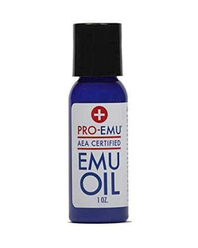 PRO EMU OIL (1 oz) Pure All Natural Emu Oil - AEA Certified - Made In USA - Best All Natural Oil for Face, Skin, Hair and Nails. Excellent for Dry Skin, Burns, Sunburns, Scars, Muscles and Joints by Pro Emu