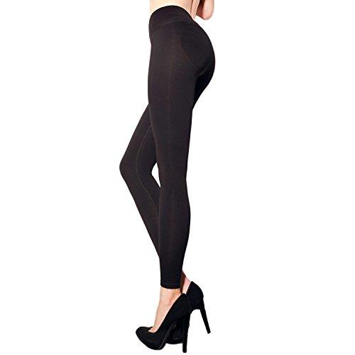 Mallas modeladoras para mujer con efecto de realce en los glúteos negro L