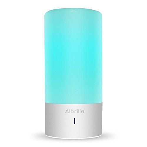 Albrillo LED Tischlampen 360° Berührungssteuerung RGB-Farbwechsel Stimmungslicht mit 256 Farbkombinationen und Warmweißes Licht in 3 Helligkeitsstufen