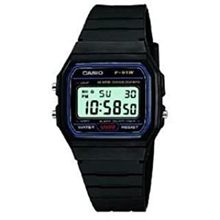 Casio Classic Mens Casual Water Resistant Digital Wrist Watch with Resin Band - Black - Ref. F-91W (B004ZSGA4S) | Amazon price tracker / tracking, Amazon price history charts, Amazon price watches, Amazon price drop alerts