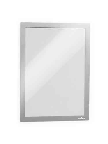 Durable 488223 Info-Rahmen Duraframe (A4, selbstklebend mit Magnetverschluss) 10 Stück silber (Werbe-magnete)