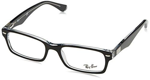 Ray Ban Brillengestell RX5206 2034 52-18 schwarz/transparent