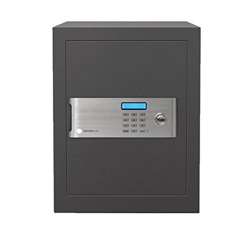 Yale YSM/400/EG1 Coffre-Fort Haute Sécurité à Serrure Electronique 100 000 combinaisons (Certifié SKG), A Poser et Sceller | Format Bureau 40 x 35 x 34 cm (35,5L), Anthracite,