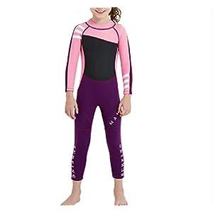 Perfezionare giocare Muta per bambini a maniche lunghe per bambini Muta solare per bambini per sport acquatici (rosa) (Colore : Pink, Dimensione : M)