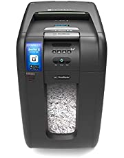GBC AUTO+300X SmarTech Auto Feed Paper/CD/Credit Card Cross Cut Shredder with App Control, Automatic Feed and Security PIN Code (300 Sheet Capacity, 40L Bin)