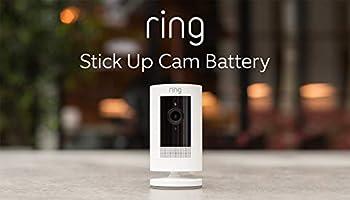 Nuova Ring Stick Up Cam Battery, videocamera di sicurezza in HD con sistema di comunicazione bidirezionale, compatibile...
