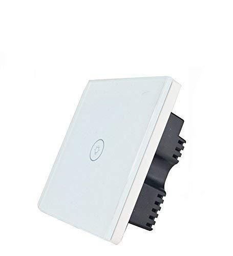 Kidult Smart-Schalttafel, WLAN, Touch-Schalter, Glas, unterstützt Amazon Alexa, Google Home, iOS-/Android-Apps, weiß -