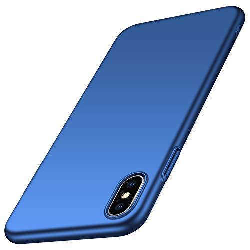 anccer iPhone XS Hülle, iPhone X Hülle [Serie Matte] Elastische Schockabsorption und Ultra Thin Design für Apple iPhone XS/X (Glattes Blau) Design Apple Iphone