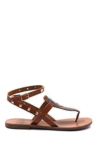 CHIC NANA . Chaussure Femme Mode Sandale Plate Ornée de Strass.