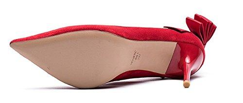 Automne mode Scrubs arc légers chaussures de Dame/Chaussures de haut talon stiletto D