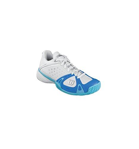 WILSON Donna Rush Pro Clay Scarpe Da Tennis Scarpa Per Terra Rossa Bianco - Blu Chiaro 38 1/3
