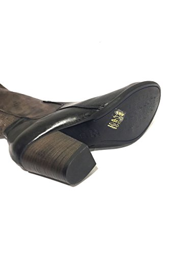 874 Div Schwarz 71 Stiefel Ach Divina Leder Mainapps Patchwork qP5gfd8w