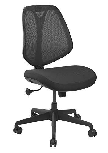 Monsiegefr Alex - Silla de oficina ergonómica, color negro