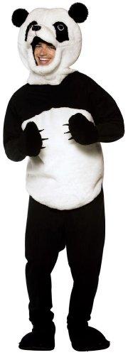 Rasta Kostüm Halloween - Panda-Kostuem fuer Erwachsene Panda-Kostuem fuer Erwachsene Halloween Groesse: Standard