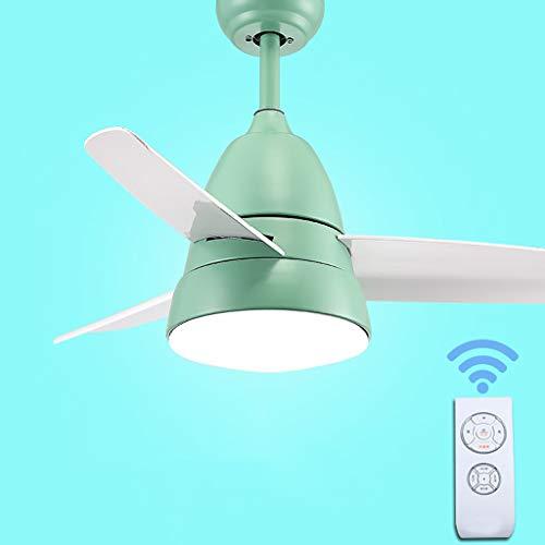 Ventilador de techo Restaurante Luces luces ventilador simple Hogar Moderno salón Hoja...