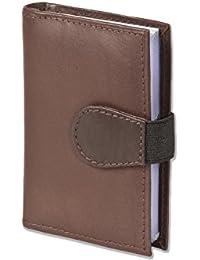 """Titulaire """"Rimbaldi"""" XXL en cuir veau de carte de crédit avec 24 compartiments pour cartes en cuir souple de veau traitée"""
