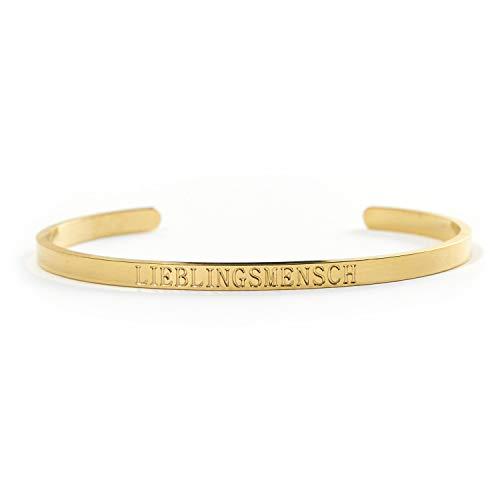 LIEBLINGSMENSCH Armreif in Gold, Silber und Rose Gold - Couple oder BFF Geschenk