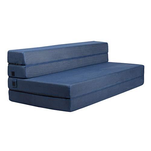 Milliard- Espuma Colchón y sofá Cama Plegable en Tres Partes 11,5 cm...