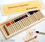 Stockmar Beeswax 24 Stick Crayons in Wooden Storage Case (japan import)