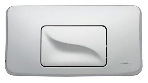 SCHWAB Betätigungsplatte GALA mattchrom 227702 Toilette Drückerplatte