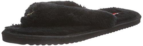 flip*flop - Original Fur, Pantofole Donna Nero (Schwarz (000))