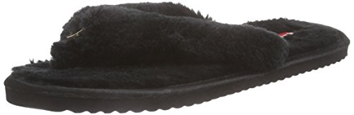 flip*flop Original fur, Damen Flache Hausschuhe, Schwarz (Black 000), 42 EU