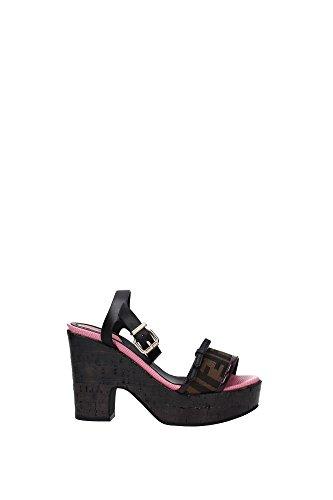 8X4568W36F0P36-Fendi-Sandals-Women-Fabric-Black