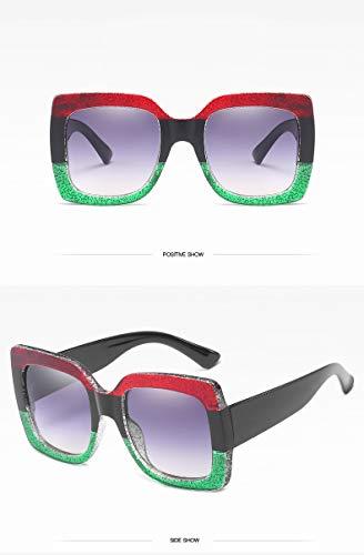 ZJWZ Sonnenbrillen Retro Big Frame Gläser Rahmen Männer und Frauen Trend Sonnenbrille Bunte Sonnenbrillen,5