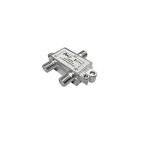 Sat BK-Verteiler 2-fach Splitter 5 - 2400 MHz Digital Kabel F Buchse HD 4K tauglich 2 fach Verteiler für Satelliten-Anlagen DVB-S2 BK UKW Radio DC-Durchlass TV Antennen voll geschirmt Metalldruckgußgehäuse ARLI