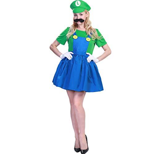 Super Kostüm Mario Bros Mädchen - JANDZ Fancy Party Dress: Rollenspiele: Für Erwachsene: Mädchen Cosplay Kostüme: Super Mario Bros. Mario und Luigi.