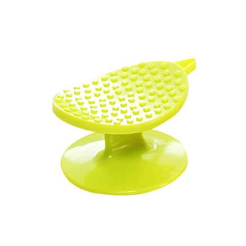 HKFV Superb Convenience Using Multifunction Kitchen Vegetable Brush Potato Scrubber Easy Cleaning Tool Help Cutting Cover In Kitchen (Green)