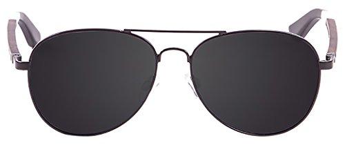 Ocean paloalto Sunglasses San Diego Sonnenbrille Unisex Erwachsene, Mate Black Metal/Wood