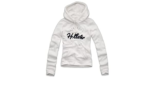 Hollister Hoodie Damen,Groesse L, Boat Canyon Shine, weiss