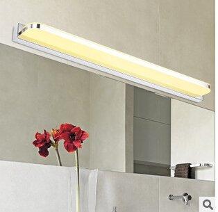 SJMM 12w led lampe licht Spiegel aus Acryl mit 72cm spiegel Edelstahl dekorative Beleuchtung Lampen und Laternen AC110V-220V, GELB(#JD-1359)